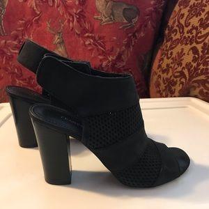 Franco Sarto Black Leather Booties. Sz 81/2